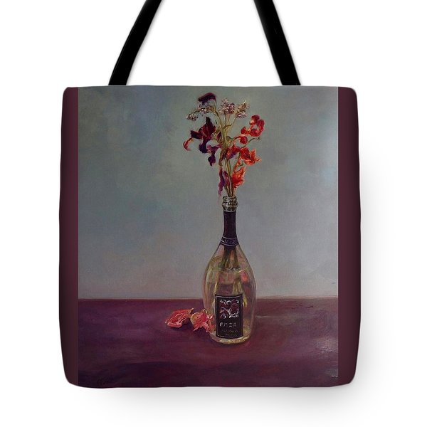 Tote Bag featuring the painting Lingering by J Reynolds Dail