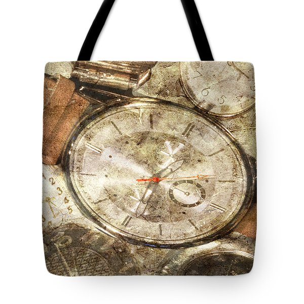 Tote Bag featuring the photograph Timepieces by Michele A Loftus