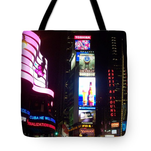 Times Square 1 Tote Bag by Anita Burgermeister