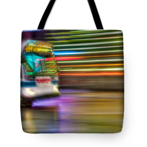Times Square Bus Tote Bag by Clarence Holmes
