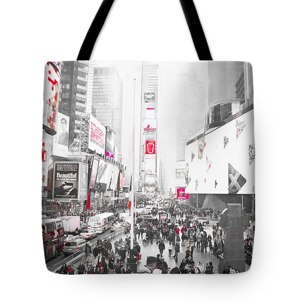 Times Square Selective Color Tote Bag