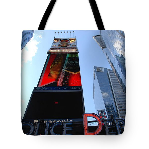 Times Square Cops Tote Bag by Rob Hans