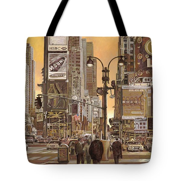 Times Square Tote Bag by Guido Borelli