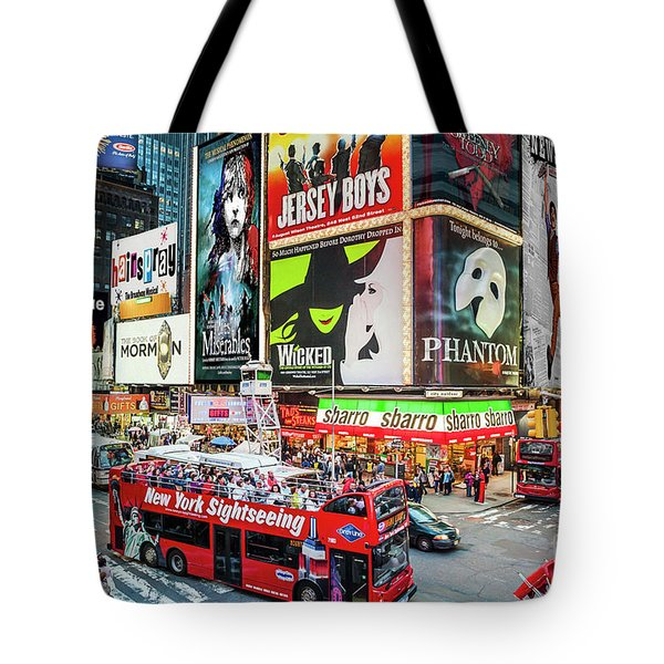 Tote Bag featuring the photograph Times Square II Special Edition by Ray Warren