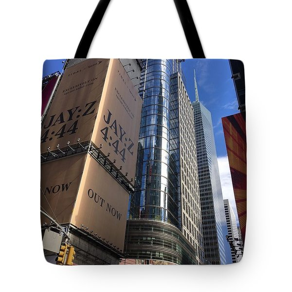 Times Square In Gold Tote Bag