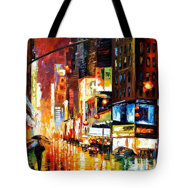 Times Square Tote Bag by Leonid Afremov