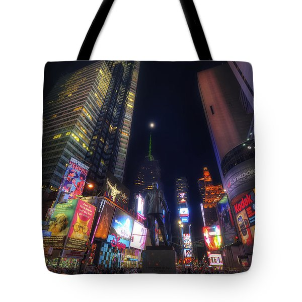 Times Square Moonlight Tote Bag