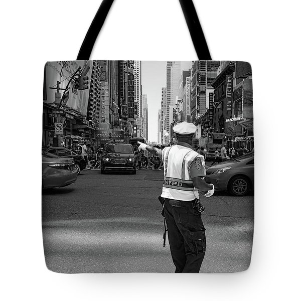 Times Square, New York City  -27854-bw Tote Bag