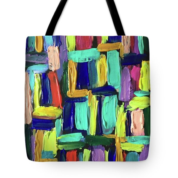 Times Square Nighttime Tote Bag by Brenda Pressnall