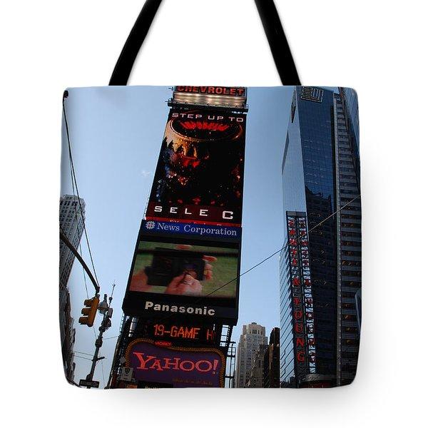 Times Square Tote Bag by Rob Hans