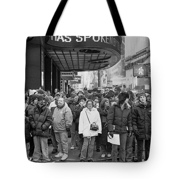 Times Square Speaks Tote Bag