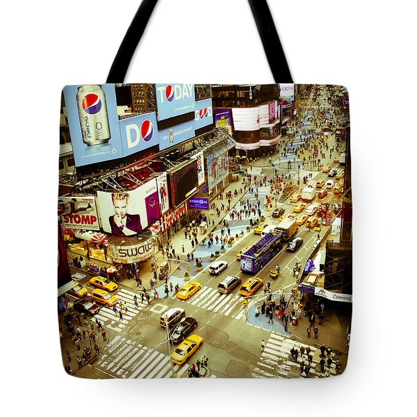 Times Square Traffic Tote Bag by Perry Van Munster
