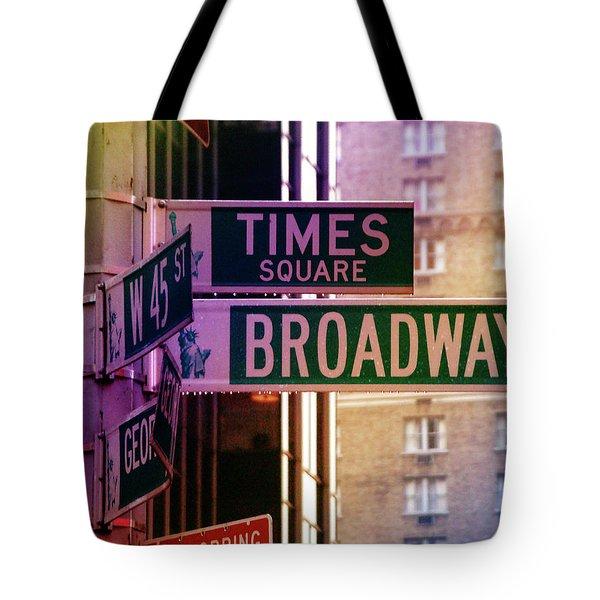 Times Square Tote Bag