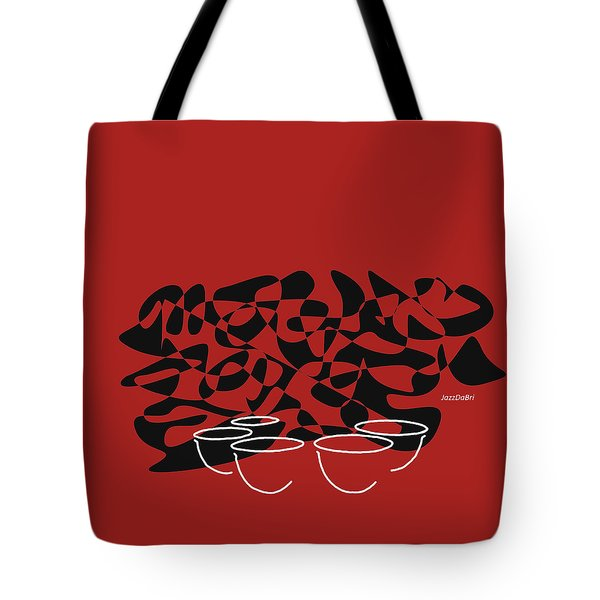 Timpani In Orange Red Tote Bag