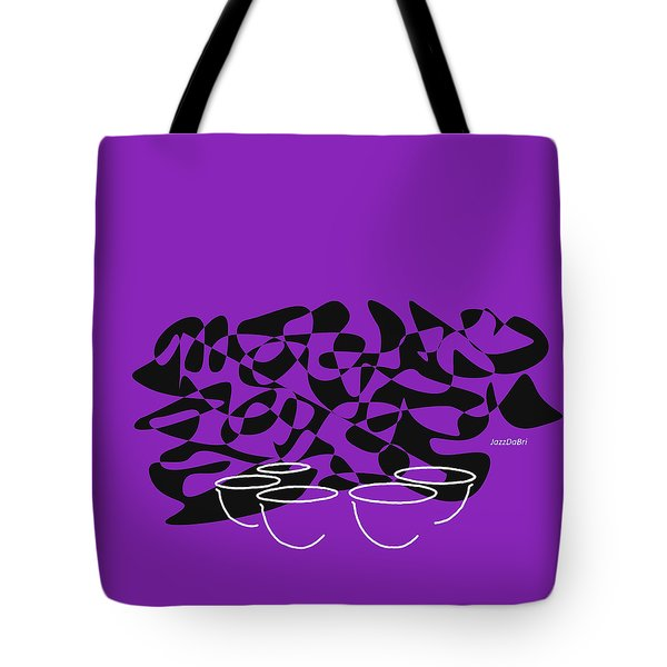 Timpani In Purple Tote Bag