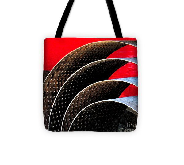 Tin Abstract Tote Bag by Gary Everson