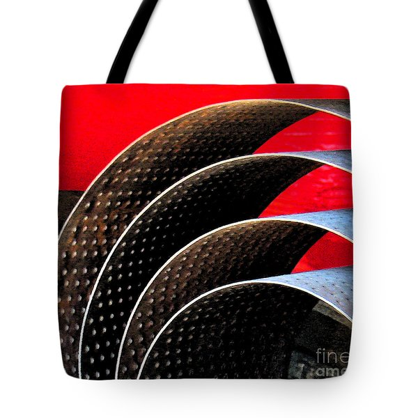 Tin Abstract Tote Bag