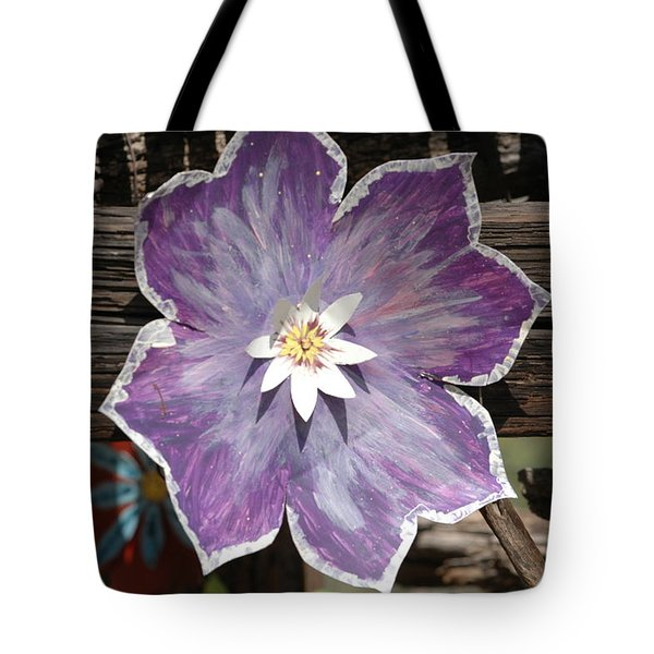 Tin Flower Tote Bag