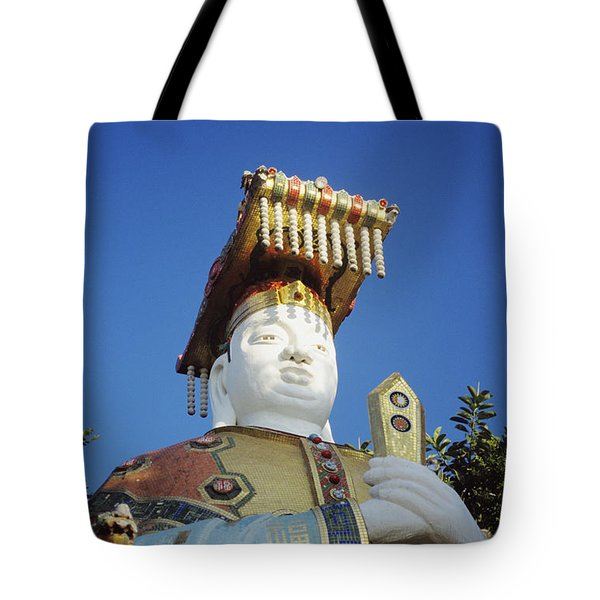 Tin Hua Temple Colorful Statue Tote Bag by Gloria and Richard Maschmeyer - Printscapes