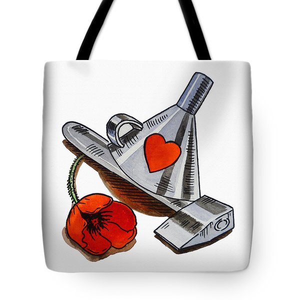 Tin Man Hat The Wizard Of Oz Tote Bag