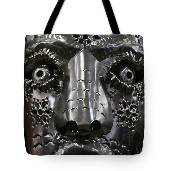 Tote Bag featuring the photograph Tin Mask Mexico by John  Mitchell