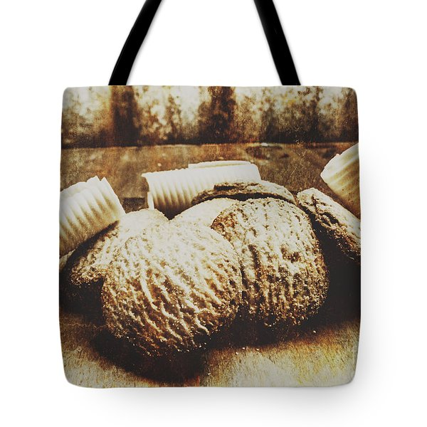 Tin Sign Baked Butter Biscuits Tote Bag
