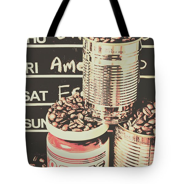 Tin Signs And Coffee Shops Tote Bag