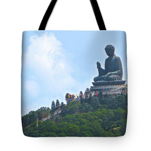 Tin Tan Buddha In Hong Kong Tote Bag