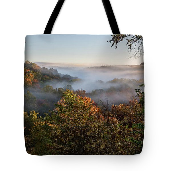 Tote Bag featuring the photograph Tinkers Creek Gorge Overlook by Dale Kincaid