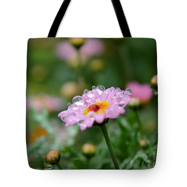 Tote Bag featuring the photograph Tiny Bubbles  by Yumi Johnson