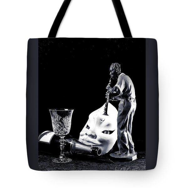 Tote Bag featuring the photograph Tiny Desk Concert by Elf Evans