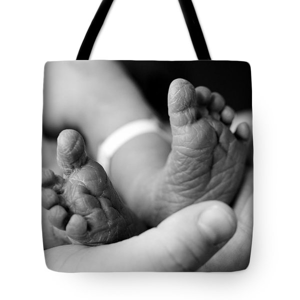 Tiny Feet Tote Bag by Sebastian Musial