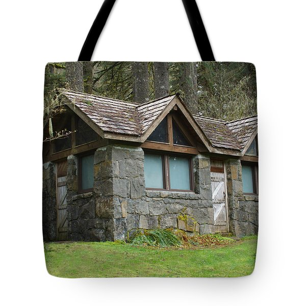 Tiny House In The Woods Tote Bag