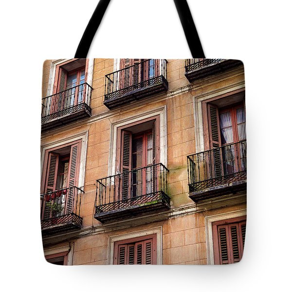 Tiny Iron Balconies Tote Bag