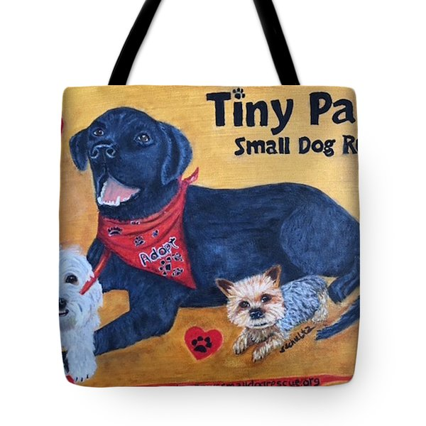 Tiny Paws Small Dog Rescue Tote Bag