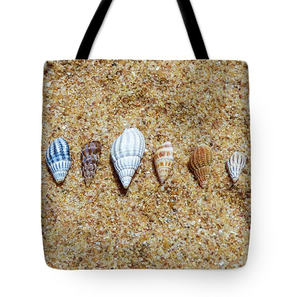Tiny Seashells On The Sand Tote Bag
