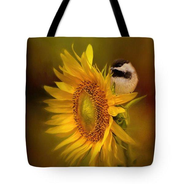 Tiny Surprise Bird Art Tote Bag