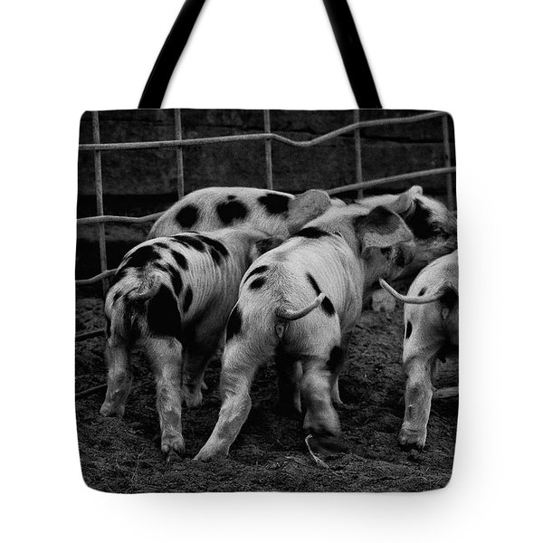 Tote Bag featuring the photograph Tiny Tails by Lora Lee Chapman