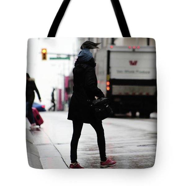Tote Bag featuring the photograph Tiny Umbrella  by Empty Wall