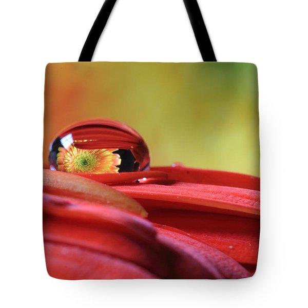 Tiny Water Drop Reflections Tote Bag
