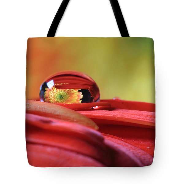 Tiny Water Drop Reflections Tote Bag