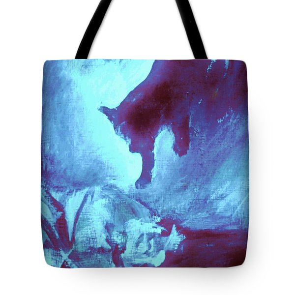 Tip Toeing On Little Cat Feet Tote Bag