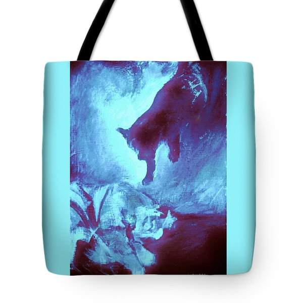 Tote Bag featuring the painting Tip Toeing On Little Cat Feet by Denise Fulmer