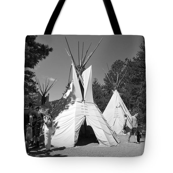 Tipis In Black Hills Tote Bag by Matt Harang