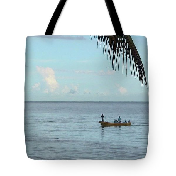 Tips Of Palms Tote Bag