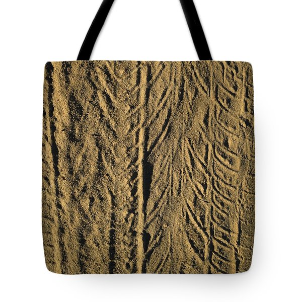 Tire Tracks Tote Bag by R  Allen Swezey