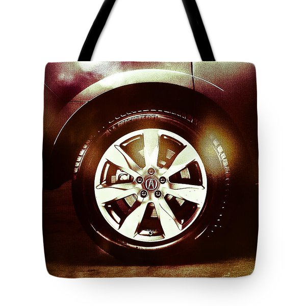 Tire Under The Moonlight Color Tote Bag
