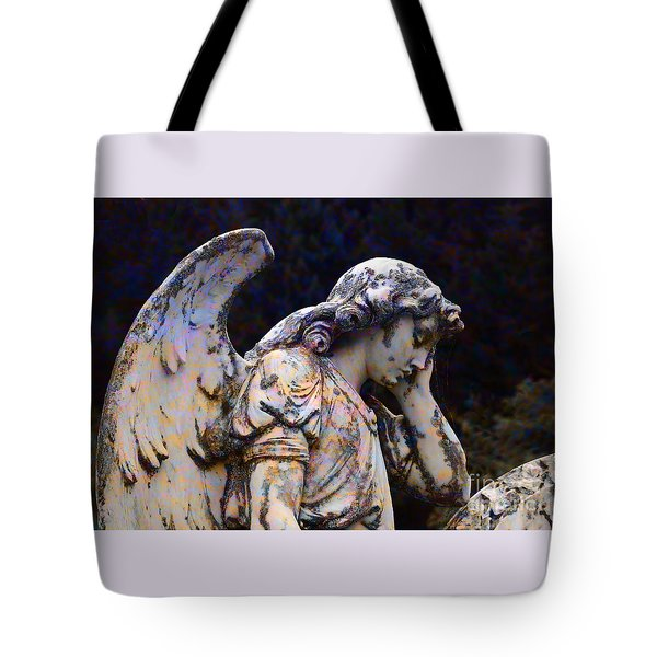 Tired Angel Tote Bag by Nareeta Martin