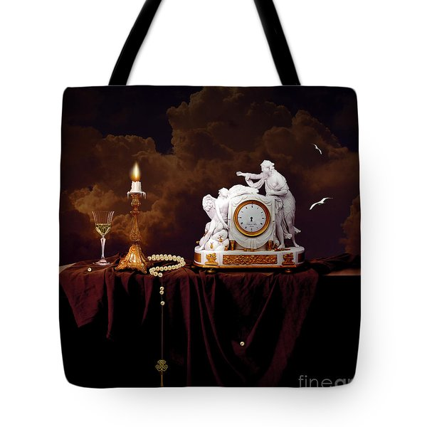 Tote Bag featuring the digital art Tired Angels by Alexa Szlavics