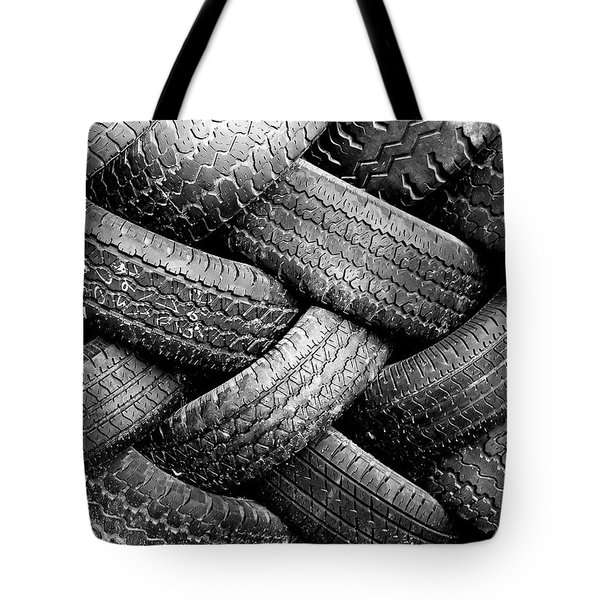 Tired Treads Tote Bag